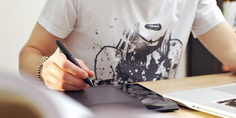 Man Using Graphics Tablet
