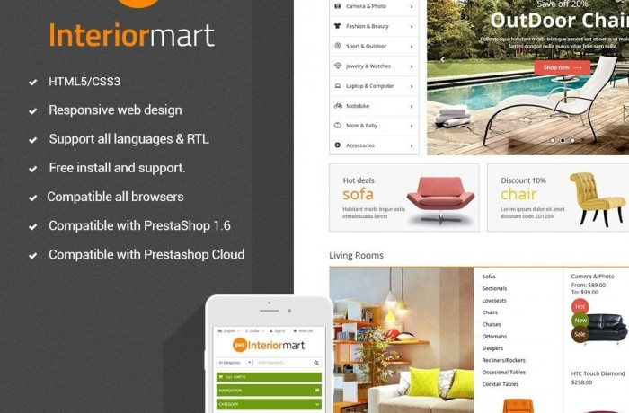 Funismart – Furniture Store Responsive PrestaShop